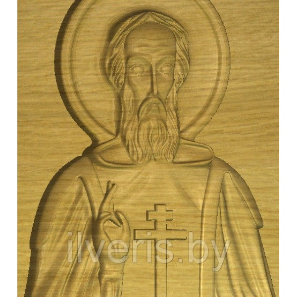 Икона Сергий Радонежский без оклада