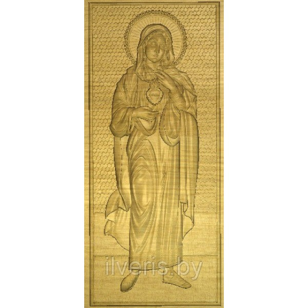 Святая Мария без оклада