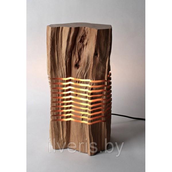 Светильник из дерева 3