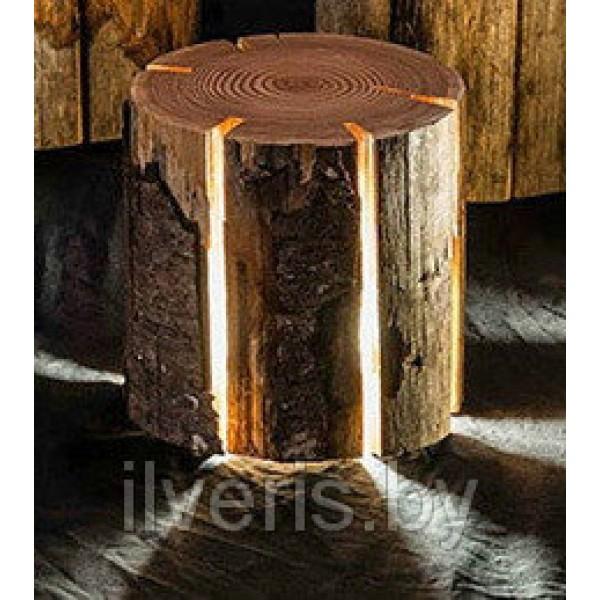 Светильник из дерева 2
